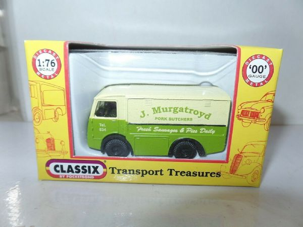Classix EM76640 1/76 OO Scale NCB Electric Milk Float Murgatroyd Butchers SALE